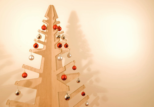 Modern Plywood Christmas Tree Alternative