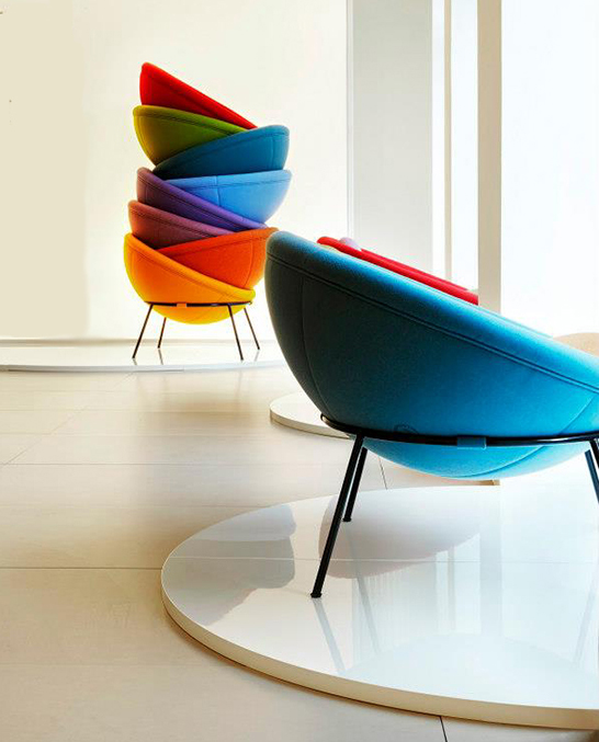 Modern Relaunch Of Colorful Bowl Chair Designed In 1951