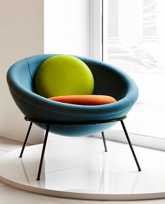 Modern Relaunch Of Colorful Bowl Chair Designed In
