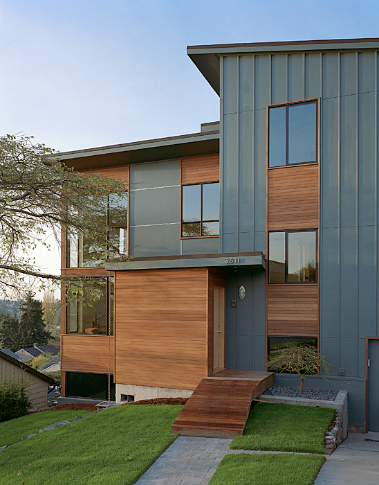 Modern Remodel Of The Post War Split Level House Into A