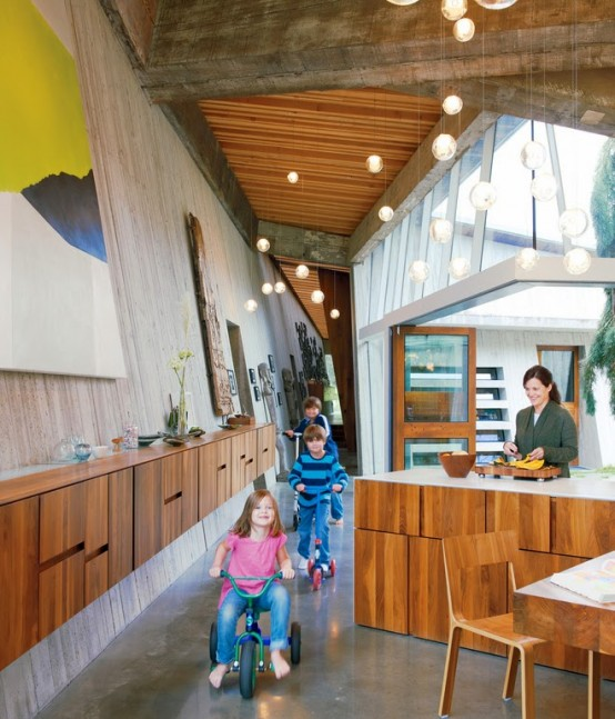 Modern Rural Family Home Made Of 100 Year Old Beams