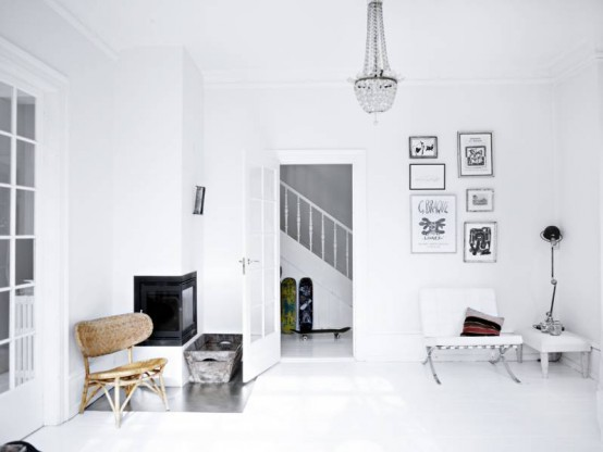Modern Scandinavian House In White And Pastel Shades