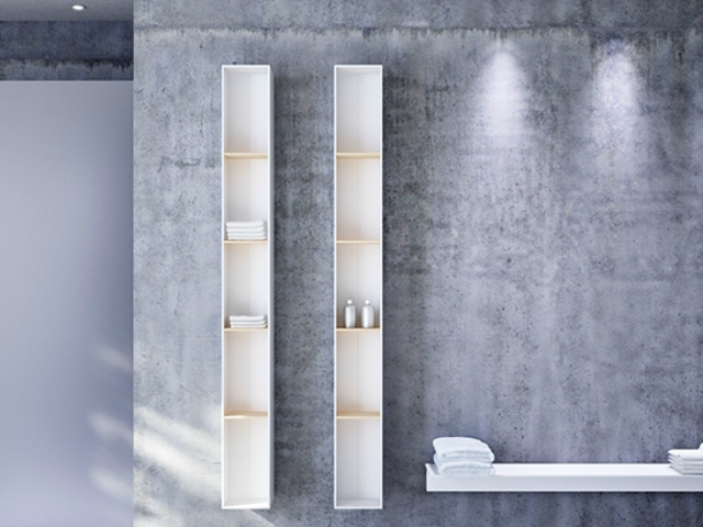 Modern Serie T Radiators Acting As Shelving Units