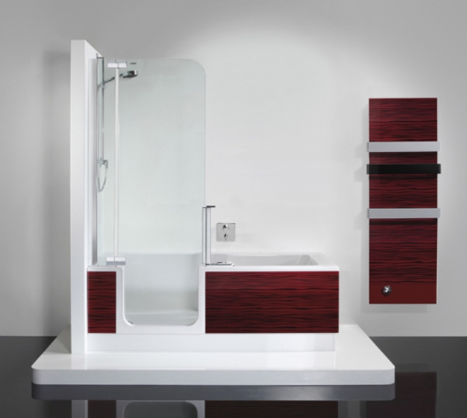 small bathroom space or to accommodate independent bathing as we age