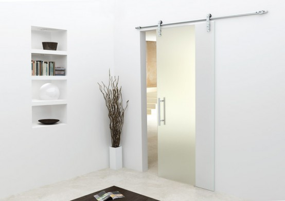 Single Glass Sliding Doors from Foa Porte | DigsDigs