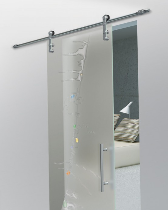 Single glass sliding doors from foa porte digsdigs for Sliding door front door