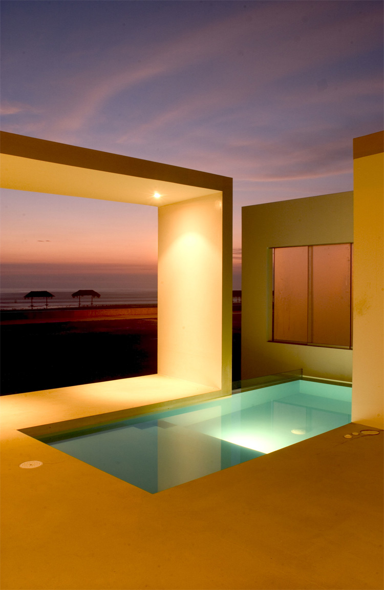 Contemporary House Design With Exterior Ceramic Panels And: Modern Small Beach House Design In Peru By Javier Artadi