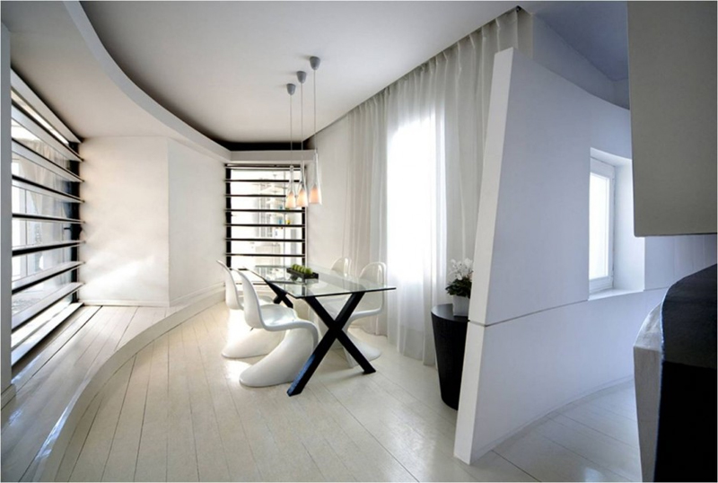 And Modern Spanish Style Penthouse Interior Design Terrace