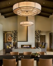 Modern Spanish House Dining Room And Living Room