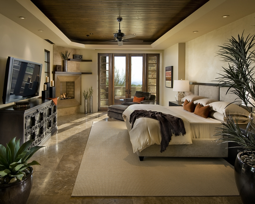 modern spanish house master bedroom