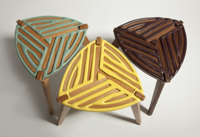 Modern Stools Made Using Unique 75% Control Process