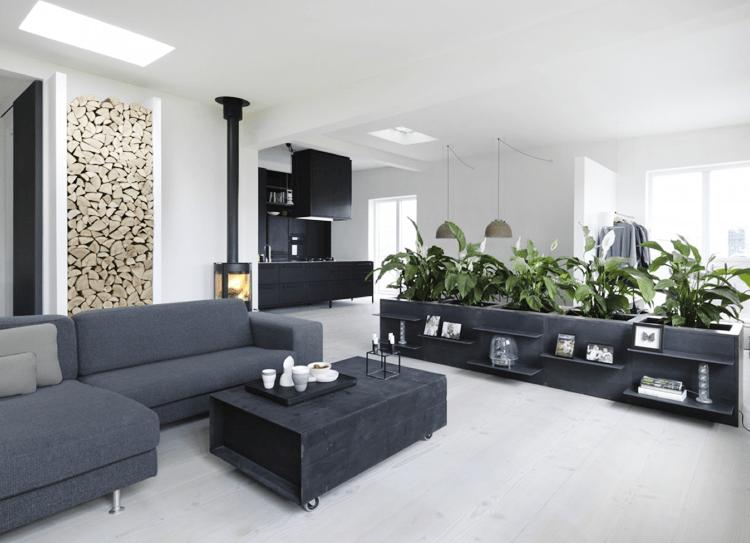 Stylish Black And White Loft In Copenhagen