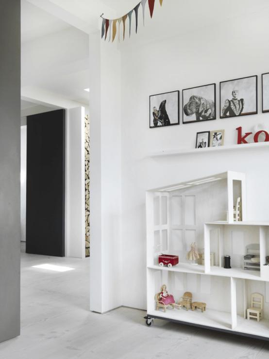 Stylish Black And White Loft In Copenhagen DigsDigs