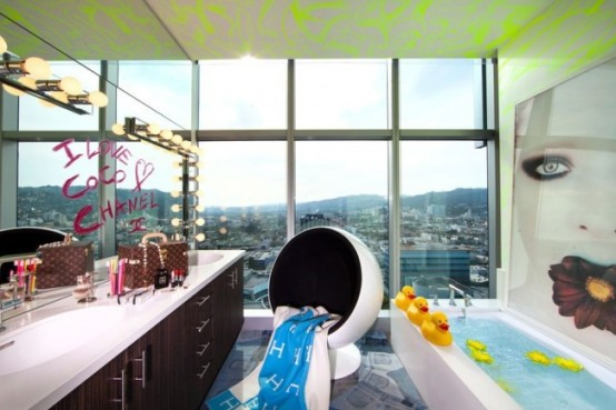 Modern Surrealist Penthouse With Colorful Interiors