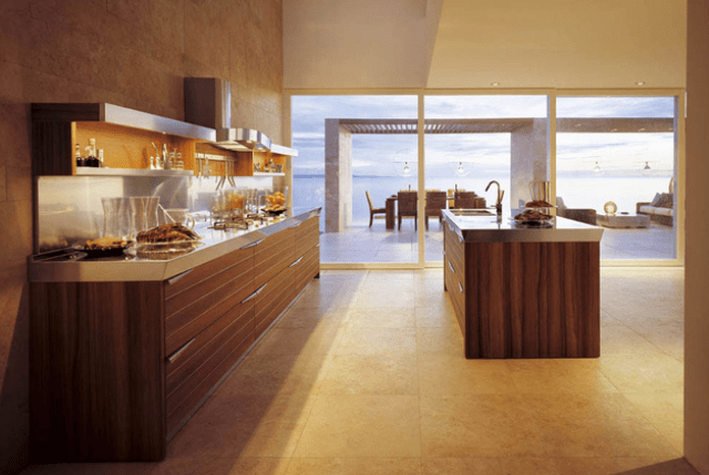 Picture Of modern time kitchen that incorporates linear aesthetic  11