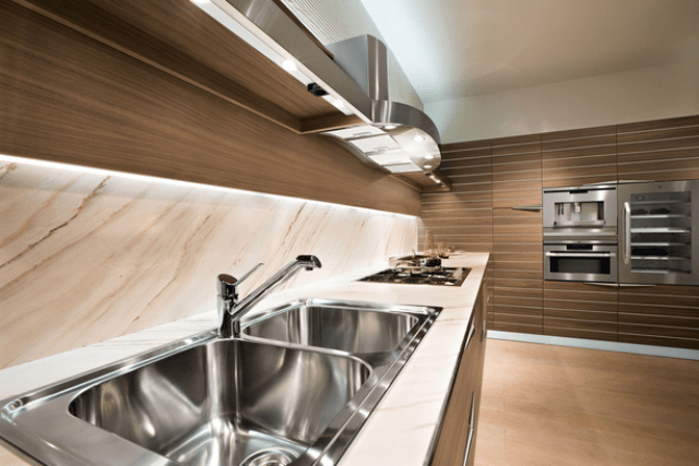 Picture Of modern time kitchen that incorporates linear aesthetic  7