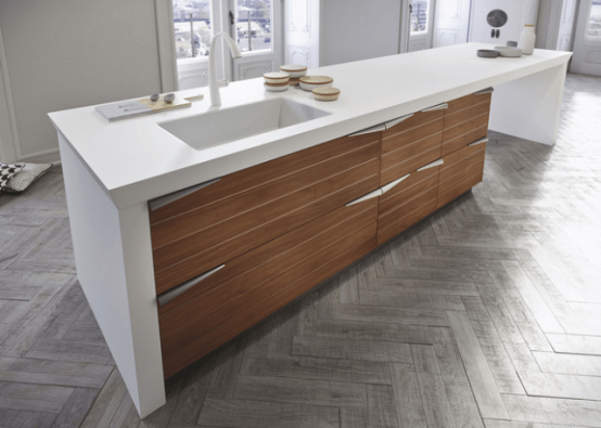 Modern Time Kitchen That Incorporates Linear Aesthetic