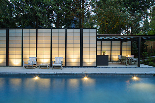 Modern Translucent Pool House Design