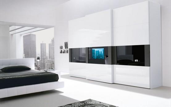 Bon Modern Wardrobe With Tv