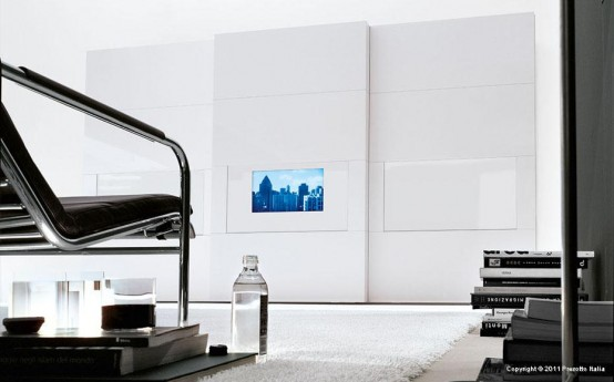 Modern Wardrobe With Tv