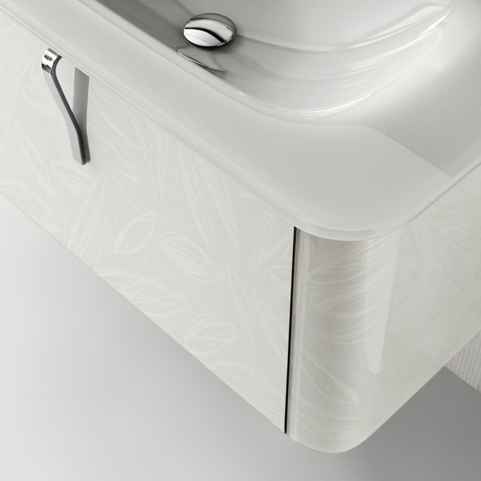 Fabulous New Modern Wall Mounted Washbasin Cabinets by QIN