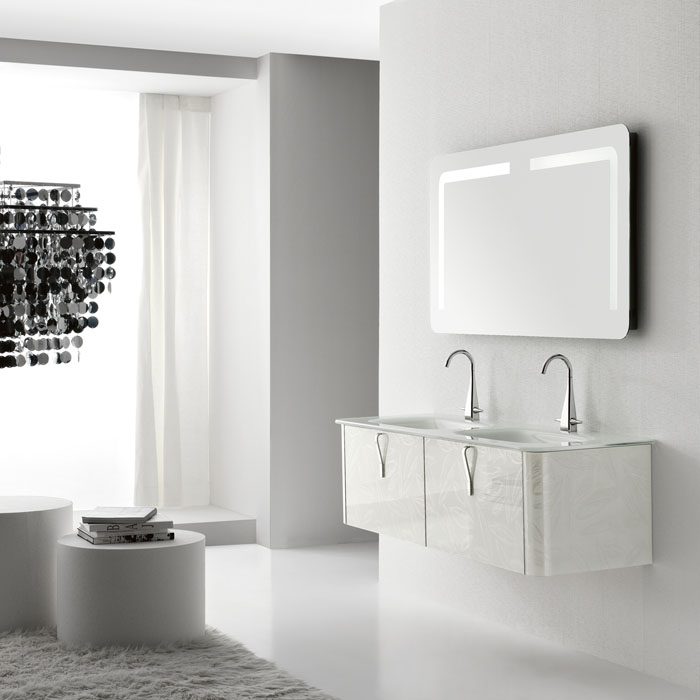 Cool New Modern Wall Mounted Washbasin Cabinets by QIN