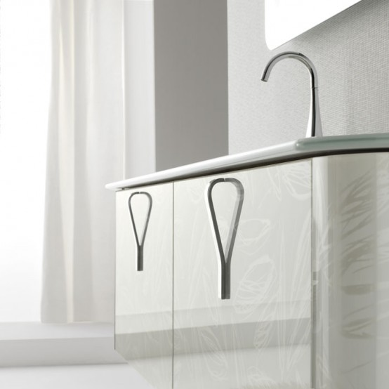 Modern White Wallmounted Washbasin Cabinet