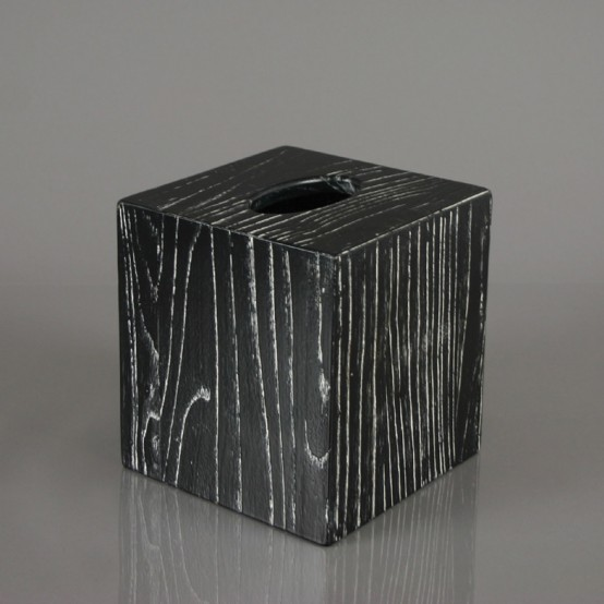 Modern Wood Tissue Box
