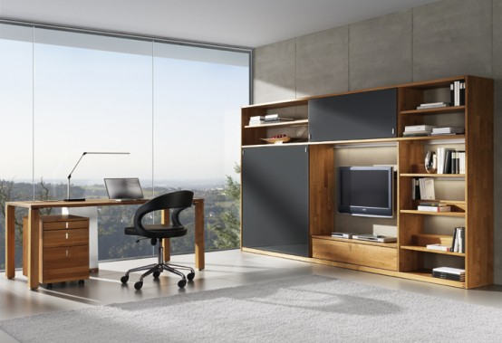 Wooden Desks and Secreters for Home Office from Team 7