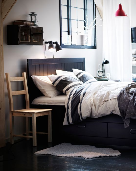 Simple modern wooden masculine headboard