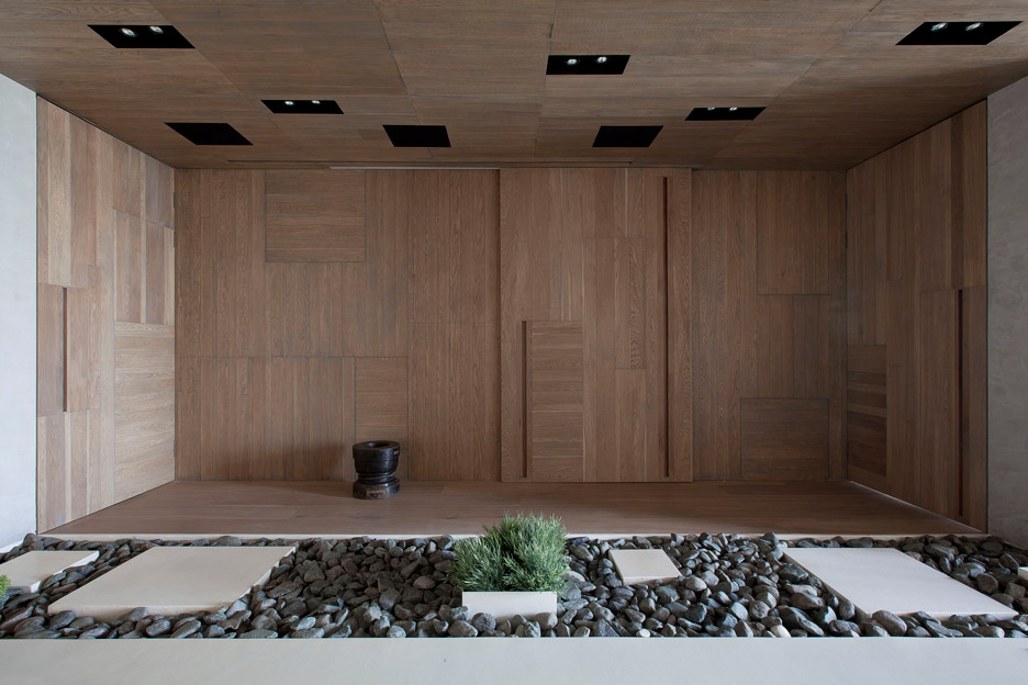 Picture Of modern zen moscow apartment with an inner garden  1