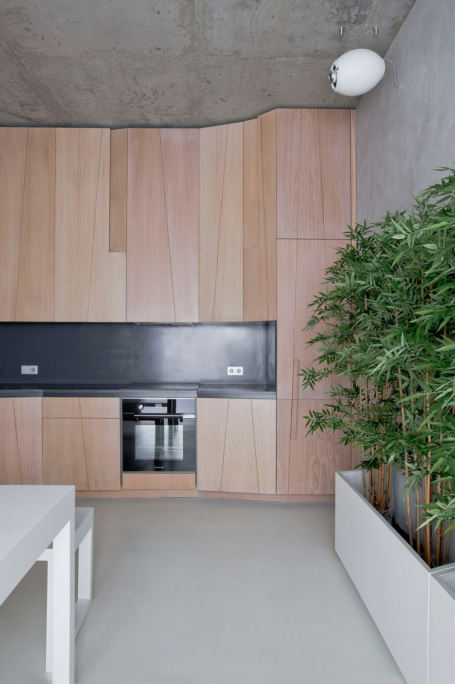 Picture Of modern zen moscow apartment with an inner garden  4