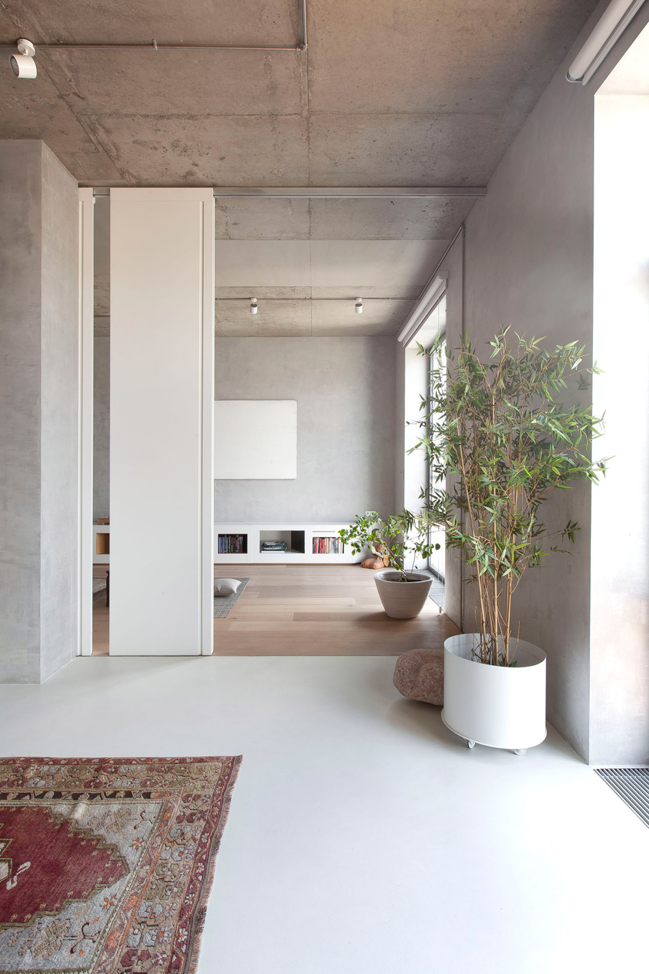 Picture Of modern zen moscow apartment with an inner garden  6