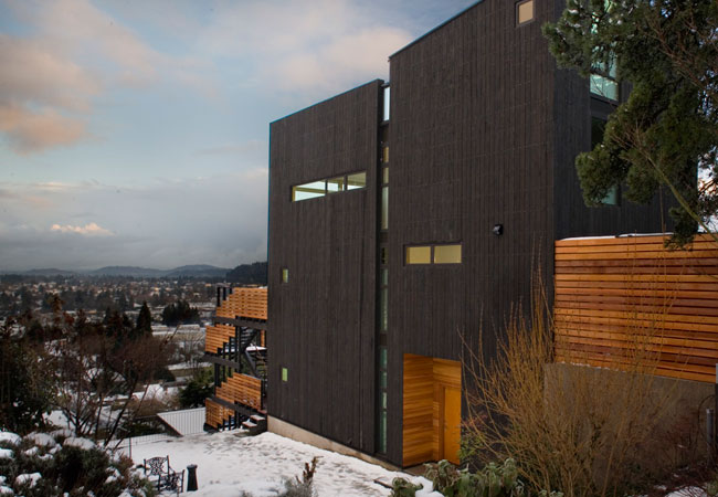 Modernist house on the slope with commanding views digsdigs Modern house portland