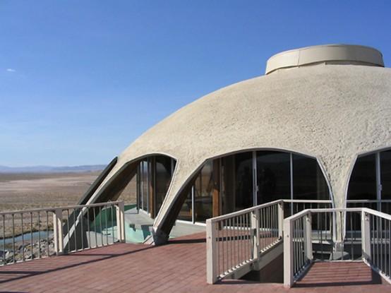 Modernist Volcano House