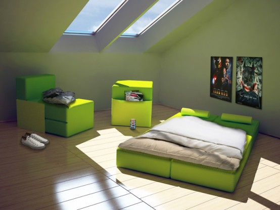 Modular Furniture Set For Multi Purpose Use In Small Spaces U2013 Multiplo By  HeyTeam