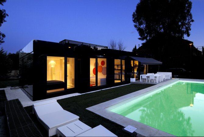 Black house design contemporary prefab house modern modular house