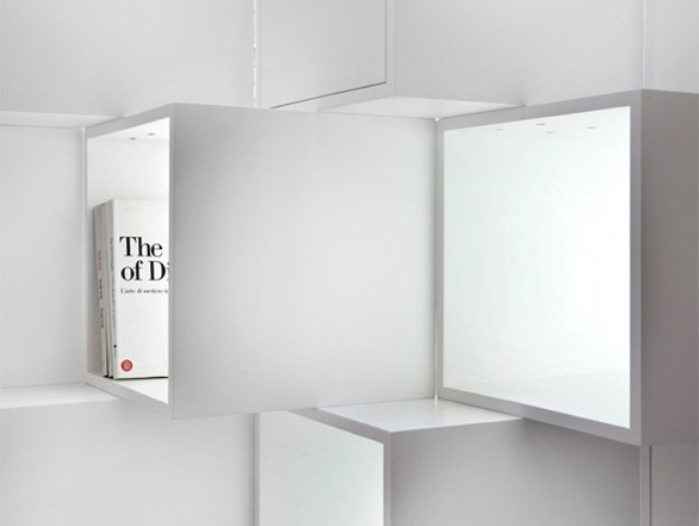Modular Minimalist Cubic Shelving Unit