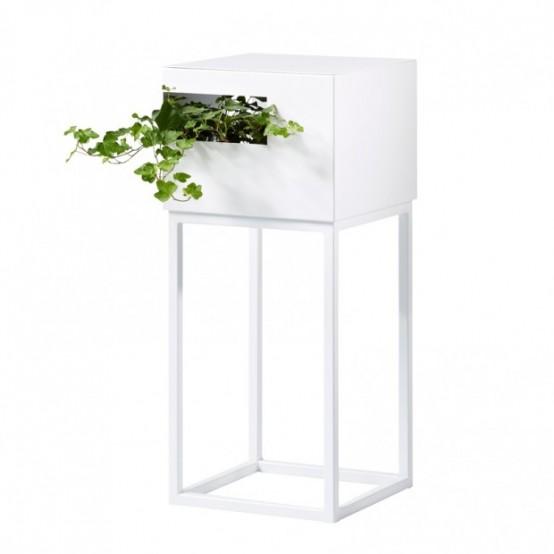 Modular Shelves For Books And Plants