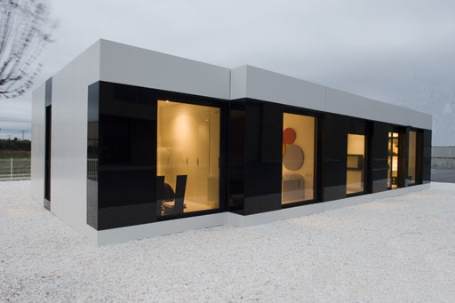 Sleek and Modern White Modular House by A-Cero