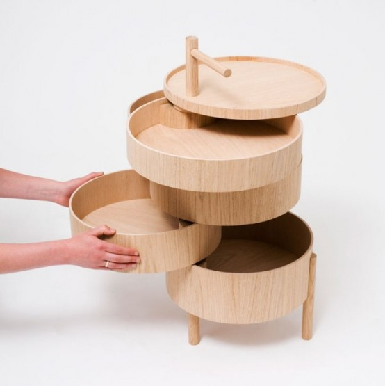 Modular Storage System Of Round Shape In The Best Traditions Of Japan