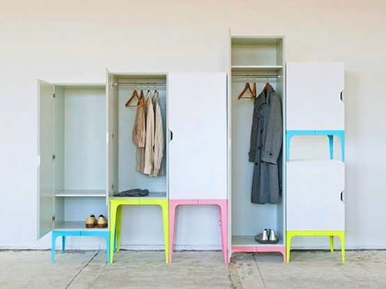 Original and Funny Modular Wardrobe System – Modrobe by Matthias Ries