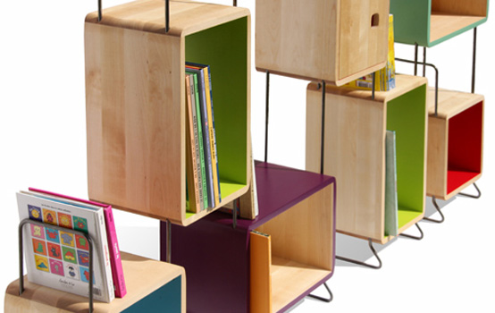 Modular Wood Metal Bookcase