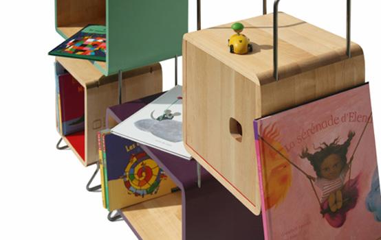 Modular Wood Metal Bookcase