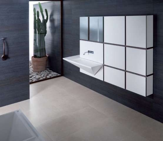 Mondart Cubism Inspired Bathroom Collection