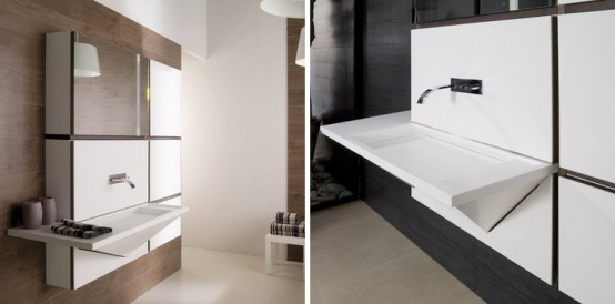 Cubism Inspired Bathroom Collection – Mondart from Gamadecor