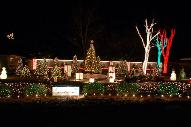 magic christmas display
