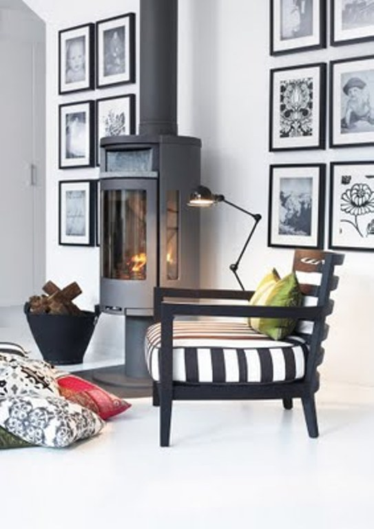 Monochromatic Black And White But Cozy House
