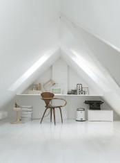 Monochromatic Minimalist Townhouse In Copenhagen