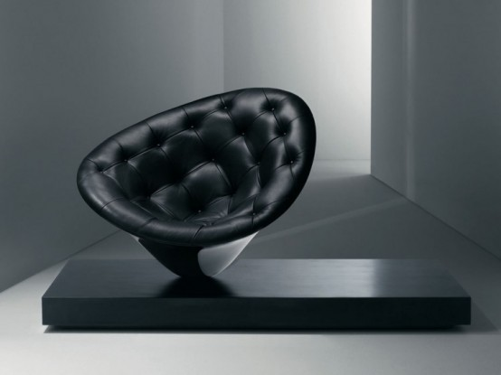 Moor Driade Black Chair by Philippe Starck